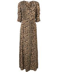 P.A.R.O.S.H. - Leopard Print Wrap Dress - Lyst