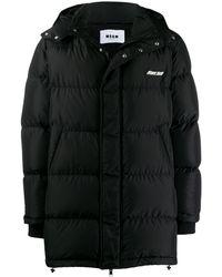 MSGM Oversized Padded Coat - Black