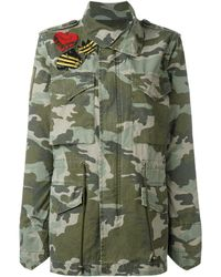 Mr & Mrs Italy Camouflage Military Jacket - Groen