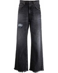 Haikure Jeans a gamba ampia con effetto vissuto - Blu
