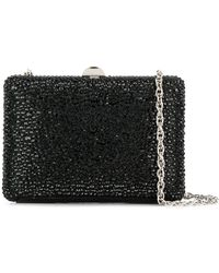 Rodo Crystal Embellished Box Clutch - Black