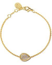 Boucheron Serpent Bohème Diamonds Geel Gouden Armband - Metallic