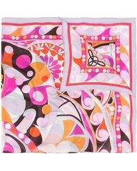 Emilio Pucci Abstract Print Scarf - Pink