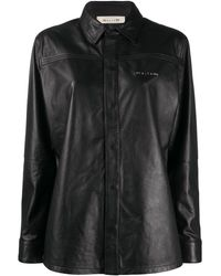 1017 ALYX 9SM Drake レザーシャツ - ブラック