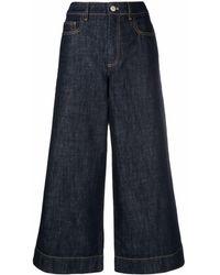 KENZO クロップド ワイドジーンズ - ブルー