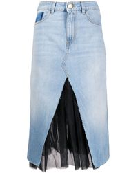 Pinko Jeansrock im Layering-Look - Blau