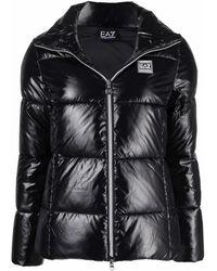 EA7 ロゴパッチ パデッドジャケット - ブラック