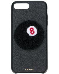 Chaos Funda de iPhone 7/8 con motivo de bola 8 - Negro