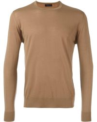 db0e3d37319 Prada Dinosaur Wool Sweater in Orange for Men - Lyst
