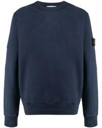 Stone Island ロゴパッチ スウェットシャツ - ブルー