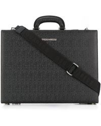 DSquared² Textured Briefcase - Black