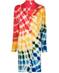 The Elder Statesman Cardigan con fantasia tie dye - Multicolore