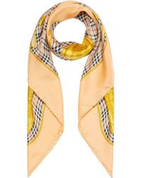 Burberry - Archive Scarf Print Silk Square Scarf - Lyst
