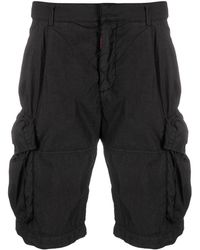 Off-White c/o Virgil Abloh Logo-print Cargo Shorts - Black