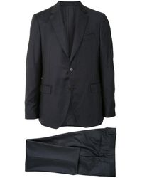 Ferragamo ストライプ シングルスーツ - グレー