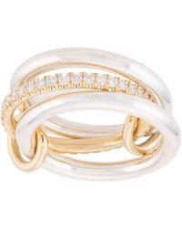 Spinelli Kilcollin Кольцо Libra Из Желтого Золота И Серебра С Бриллиантом - Металлик