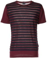 Cerruti 1881 Short Sleeves Striped T-shirt - Red