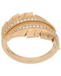 Stephen Webster Embellished Leaf Ring - Metallic