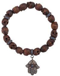 Loree Rodkin - Skull Charm Bracelet - Lyst