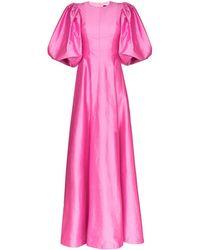 Rasario パフスリーブ ドレス - ピンク