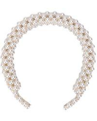 Shrimps Antonia Faux Pearl Headband - White