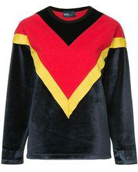 Kolor - Colour Block Chevron Sweatshirt - Lyst