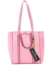 Marc Jacobs The Trompe L'oeil Tag Tote Bag - Pink