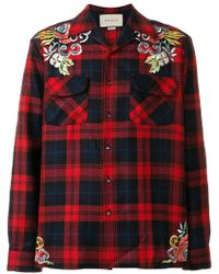 Gucci - Embroidered Wool Shirt - Lyst