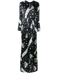 Philipp Plein Skull Print Wrap Dress - Black