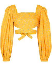 Alice McCALL Limonata Cropped Blouse - Orange