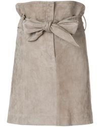 IRO - Bow Tie High Waisted Skirt - Lyst