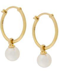 Astley Clarke Vera Drop Hoop Earrings - Metallic