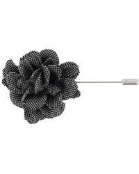Lanvin - Patterned Flower Brooch - Lyst