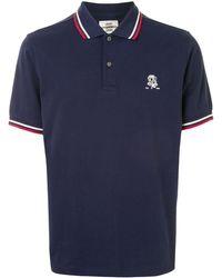 Kent & Curwen Polo con motivo bordado - Azul