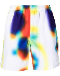 Stussy Shorts mit Soul Water-Print - Weiß