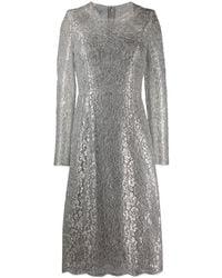 Dolce & Gabbana Кружевное Платье Миди - Металлик
