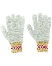 Missoni Pattern Knit Gloves - Green