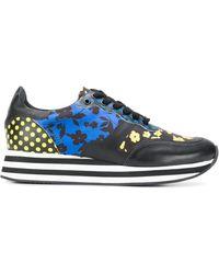 Alice + Olivia Contrast Print Sneakers - Black