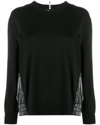3 MONCLER GRENOBLE Vinyl-style Panelled Sweatshirt - Black