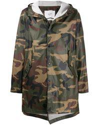 Herschel Supply Co. Camouflage Print Windbreaker Coat - Green