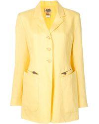 Hermès Однобортное Пальто - Желтый