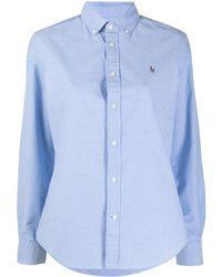 Polo Ralph Lauren Рубашка С Вышитым Логотипом - Синий
