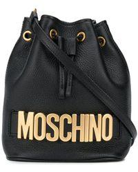 Moschino ロゴ バケットバッグ - ブラック