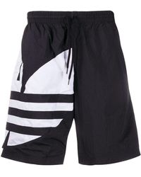 adidas Shorts mit Trefoil-Logo - Schwarz