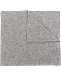 Allude Cashmere Knit Scarf - Grey