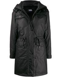 Karl Lagerfeld Пальто С Капюшоном - Черный