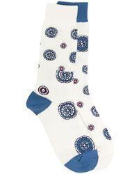 Sacai インターシャ 靴下 - ホワイト