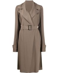 Rick Owens Belted Trench Coat - Multicolour