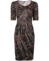 fitted silhouette day dress - Brown Raquel Allegra Z6KUS