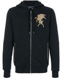 Alexander McQueen - Embroidered Hooded Sweatshirt - Lyst